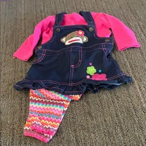 EUC Baby Starters Dress Outfit 6 months